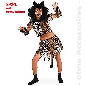 Pata de gato traje mujer felina gato traje terciopelo traje señora minino
