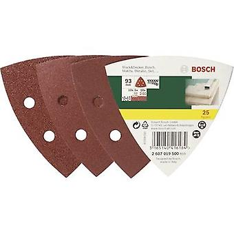 Bosch Accessories 2607019500 Delta grinder blade set Hook-and-loop-backed, Punched Grit size 60, 120, 240 Width across