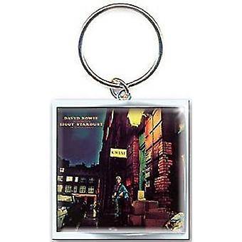 David Bowie-Ziggy Stardust-Metall-Schlüsselanhänger