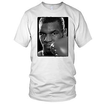 Mike Tyson Boxing Legend B&W Ladies T Shirt