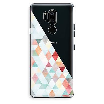 LG G7 Thinq Transparent Case (Soft) - Coloured triangles pastel