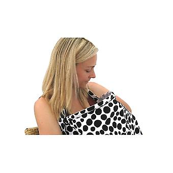 Pebble UK Breast Feeding Cover [Style BFC01] Black (White Spots)  L/XL