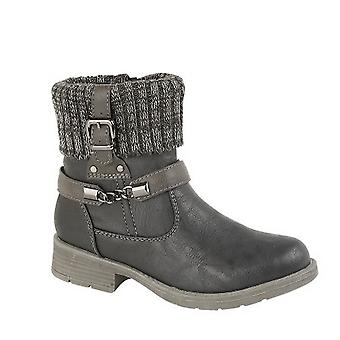Cipriata Womens/Ladies Knitted Collar Harness Ankle Boot