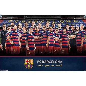 FC Barcelona - zespół 15 Poster Print