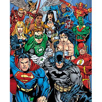 DC Comics Justice League Collage Poster Poster Print