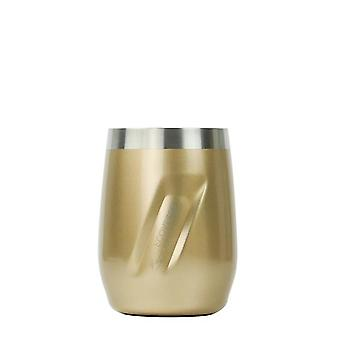 EcoVessel PORT Wine Tumbler with Lid - Gold Dust Painted 10 oz