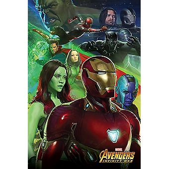 Infinito de Avengers era hombre de hierro de cartel