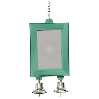 Ica Hanging Mirror with Two Bells (Birds , Toys)