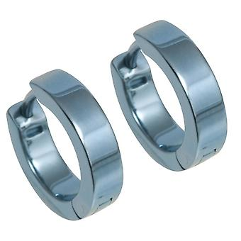 Ti2 Titanium Flat hoepel Cuff oorbellen - hemelsblauw