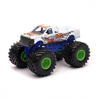 1:43 escala Die-Cast Monster Truck, camión blanco