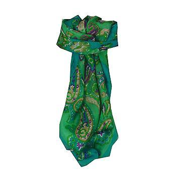 Morera de seda clásico Plaza bufanda Orissa Teal por Pashmina y seda