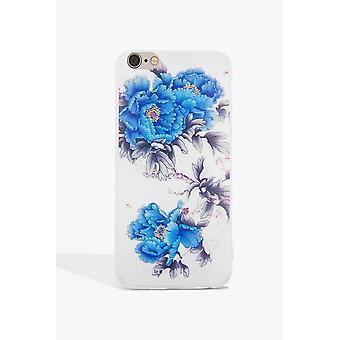 Little Mistress Accessories Blue Flower Case Iphone 6