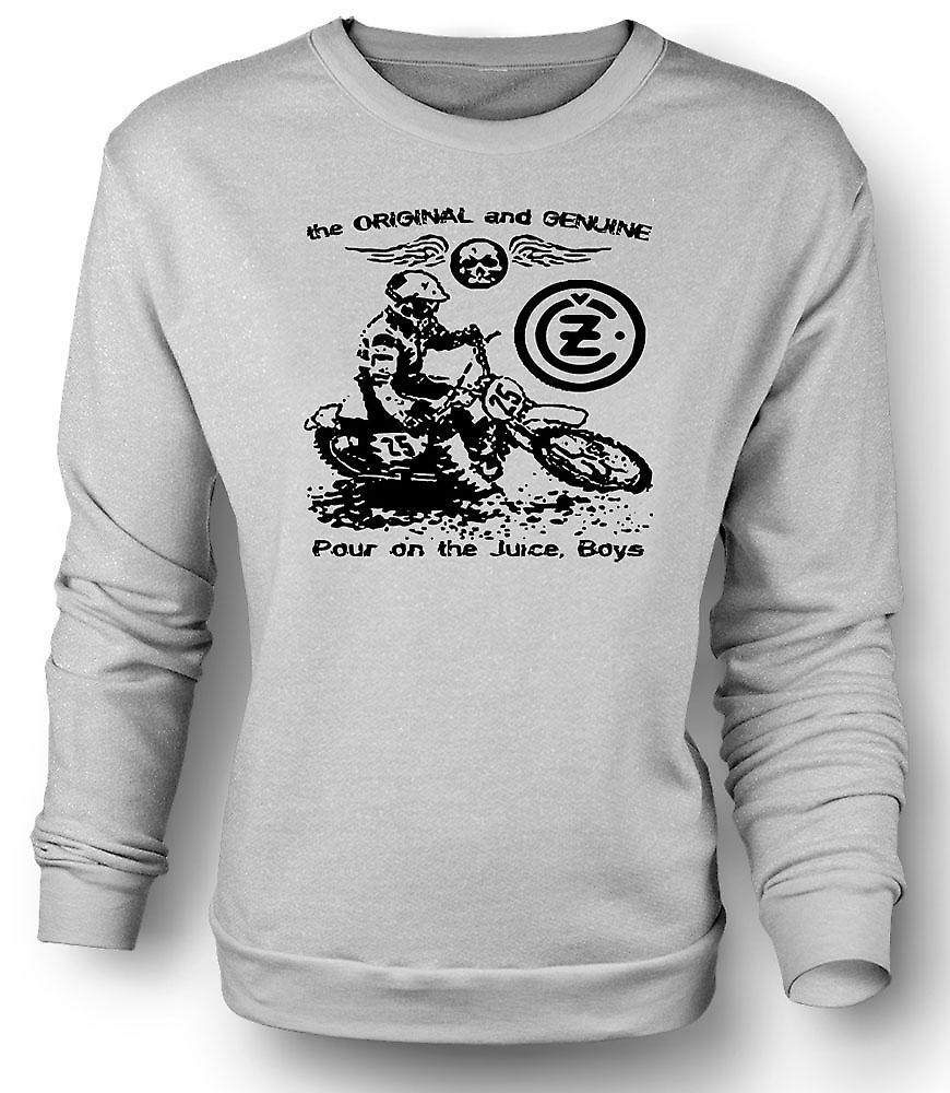 Mens Sweatshirt Jawa CZ Saft - klassische Moto