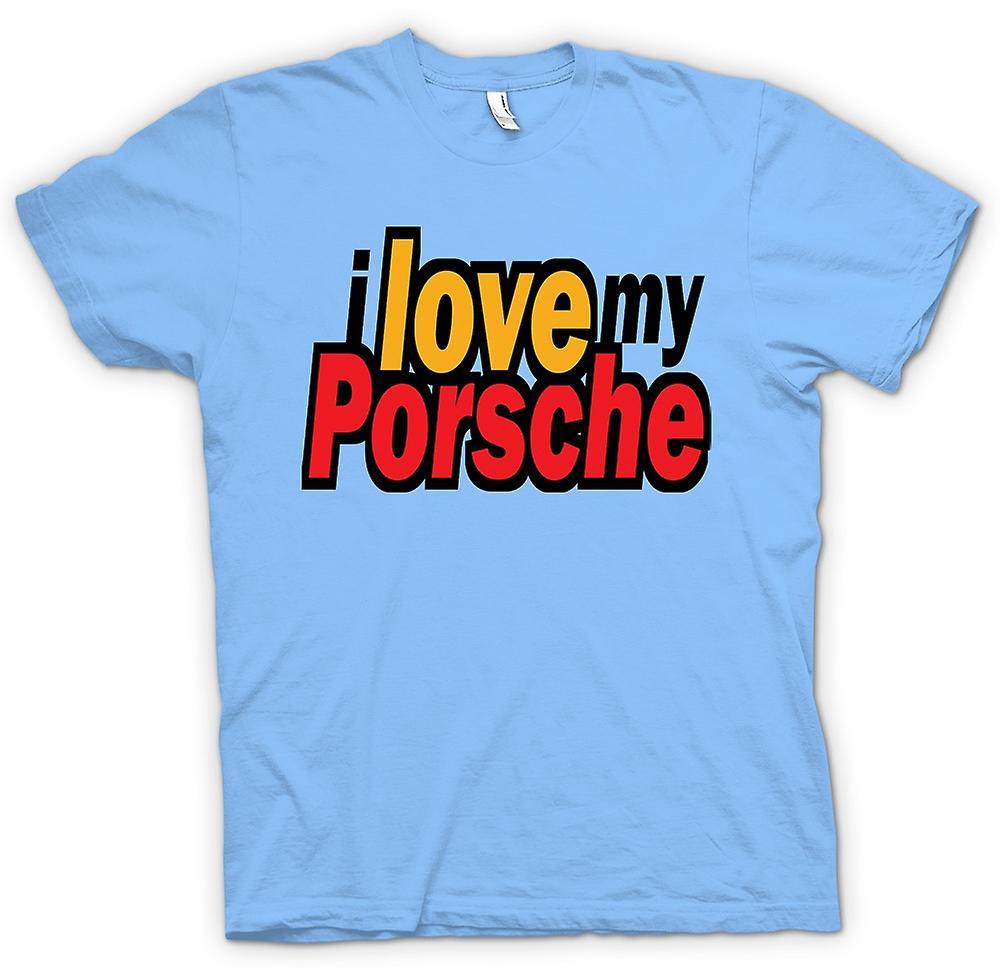 Mens t-shirt - amo mia Porsche - appassionato di auto