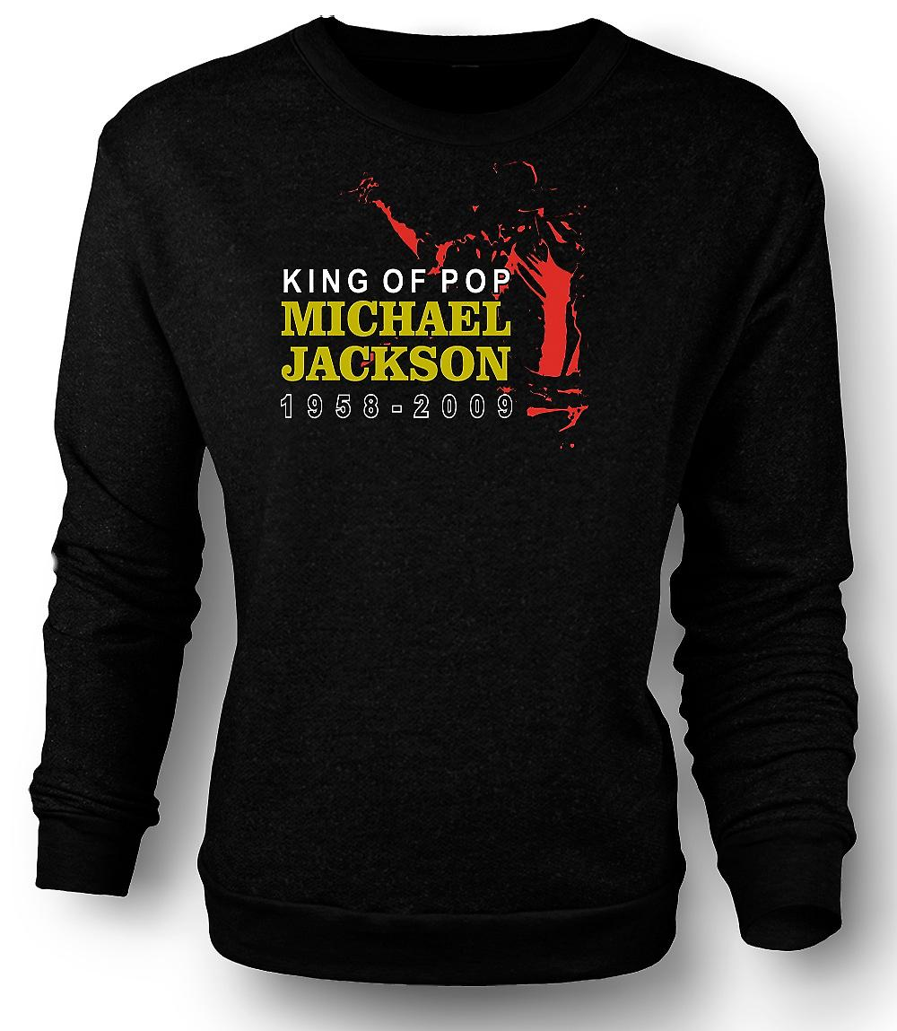 Mens Sweatshirt Michael Jackson King Of Pop - nouveau