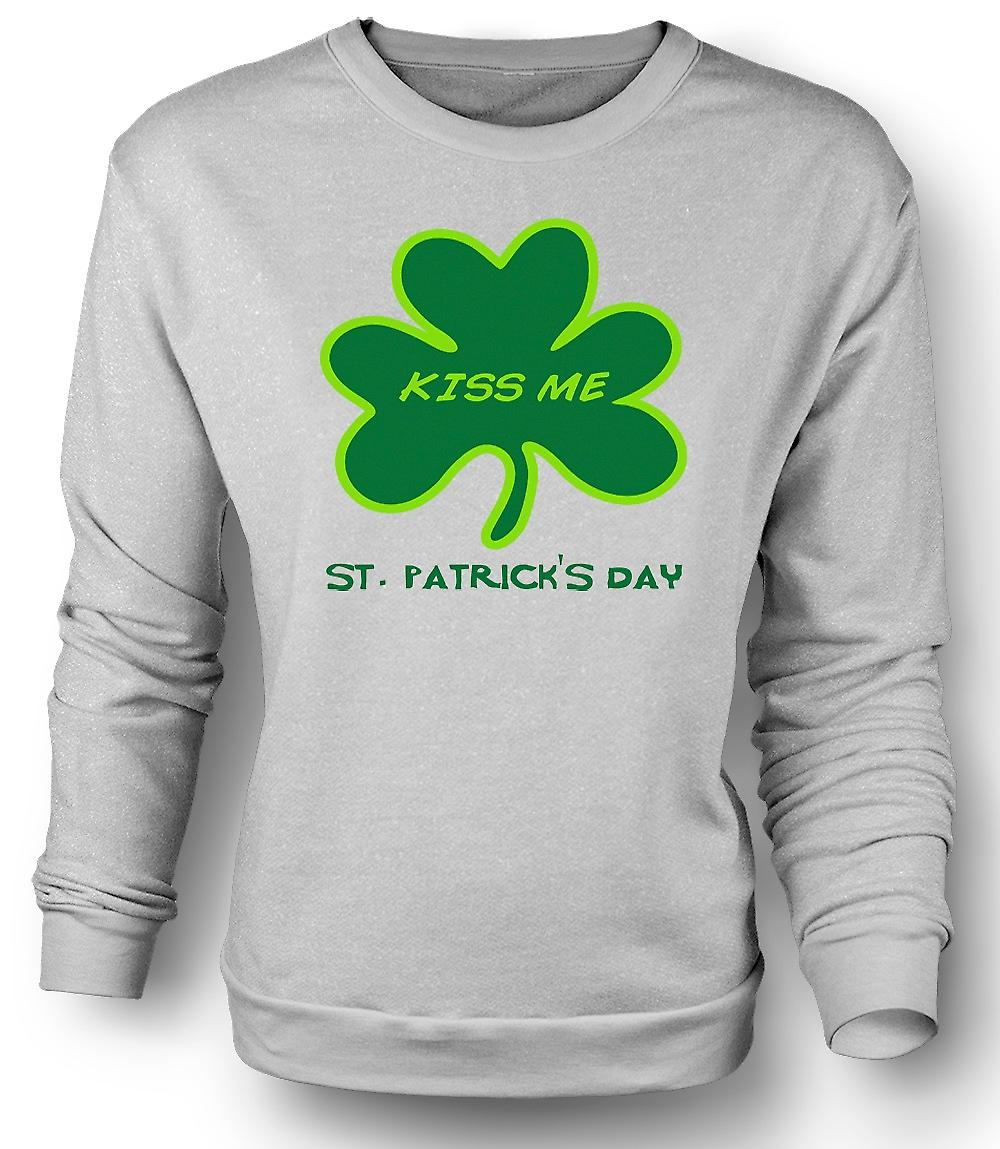 Mens Sweatshirt St Patricks Day - Kiss Me