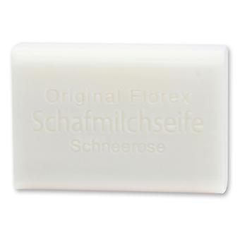 Florex Schafmilchseife - Schneerose - umwerfender lieblicher Duft mit viel Feuchtigkeit 100 g