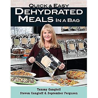 Schnelle und einfache dehydrierte Mahlzeiten in einer Tasche