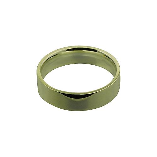 18ct Yellow Gold 6mm plain Flat Court shaped Wedding Ring