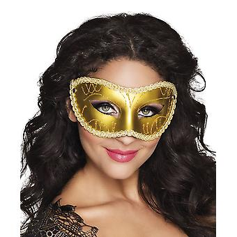 Womens Gold Eye Mask carnaval Fancy Dress accessoire