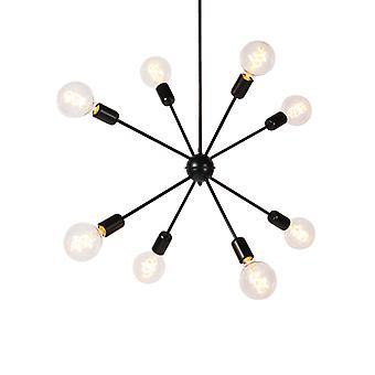 QAZQA pendentif moderne lampe 8 noir avec glisser la tige - Spoutnik