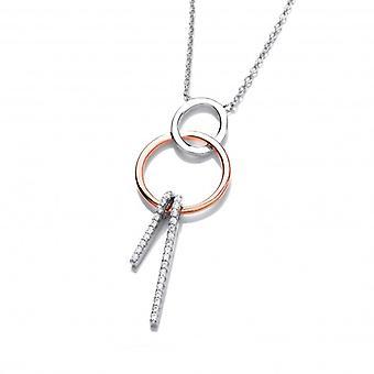 Cavendish francés plata, oro rosa y collar de CZ dulce sueños