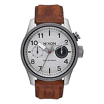 Nixon Analog quartz men's watch with leather A977-1113-00