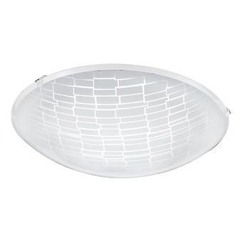 Eglo - Malva 1 LED Satin Glass Decorative Ceiling Light EG96085
