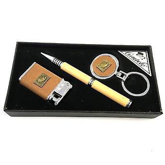 Gentelo Gas-tändare med nyckelring och penna i gåva fall