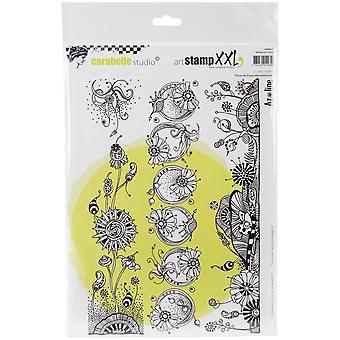 Carabelle Studio Cling Stamp XXL A4-Wonderful Flower Strips