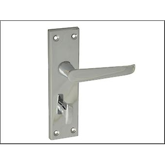 Forge Backplate Handle Bathroom - Straight Chrome Finish 150mm