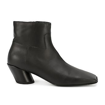 Balenciaga Black Leather Ankle Boots