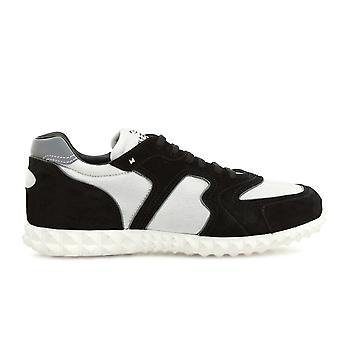 Valentino Garavani White/black Suede Sneakers