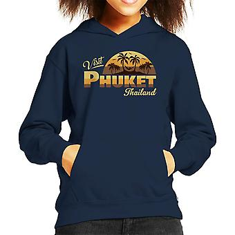 Visit Phuket Retro Beach Kid's Hooded Sweatshirt