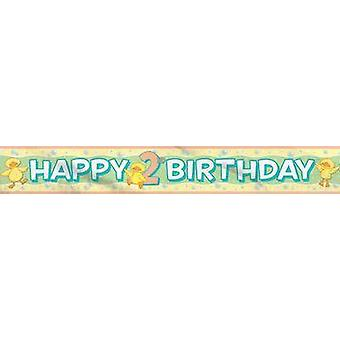 Banner - Babys 2 ° compleanno della stagnola