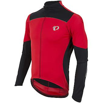 Pearl Izumi True Red-Black Pro Pursuit Wind Long Sleeved Cycling Jersey