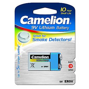1-Pack Camelion 9V Batterie, 9 Volt Lithium für Rauchmelder