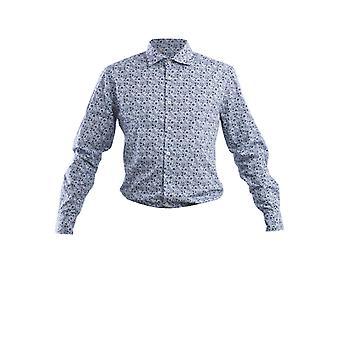 Corneliani Blue Cotton Shirt