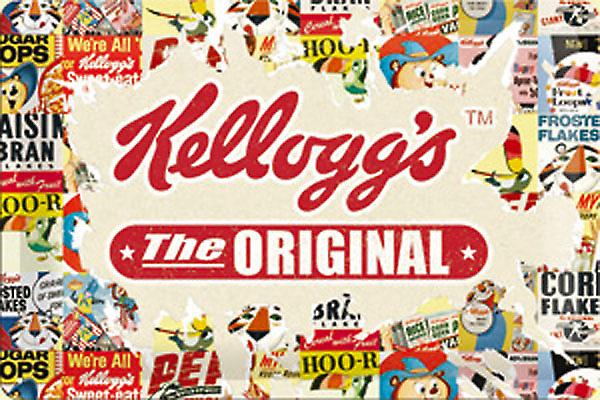 Kelloggs The Original Montage embossed steel sign   300mm x 200mm (na)