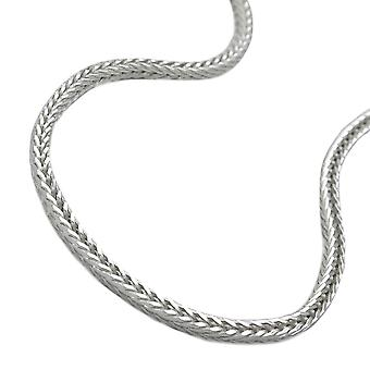 Chain 1, 5mm foxtail square Silver 925 50 cm