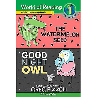 World of Reading Watermelon� Seed, The and Good Night Owl 2-in-1 Listen-Along Reader (World of Reading Level 1): 2 Funny Tales with CD!