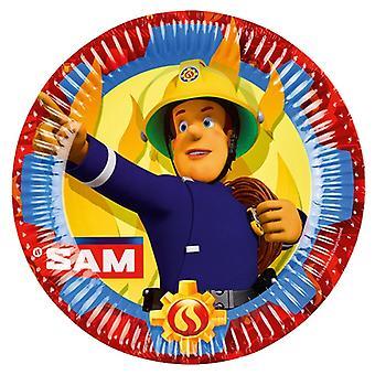 Feuerwehrmann Sam 8 Pappteller 23 cm Fireman Sam Samparty Kindergeburtstag