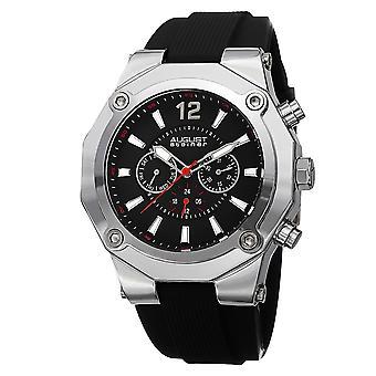 August Steiner AS8080SS Swiss Quartz Day Date GMT 50mm Case Mens Watch