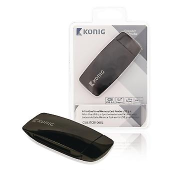 Konig CSU3TCR100BL All-in-One USB 3.0 Travel-Speicherkartenleser