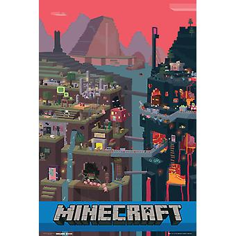 Minecraft wereld Maxi Poster 61x91.5cm