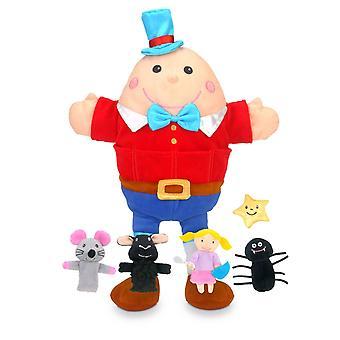 Fiesta Crafts Nursery Rhyme Hand and Finger Puppet Set