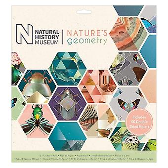Papermania Natural History Museum 12 By 12-quot; Nature-apos;s Geometry Paper Pad