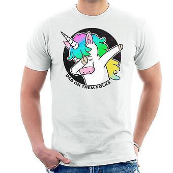 DAB sobre eles pessoas unicórnio homens ' s T-shirt