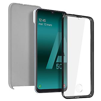 Silicone case + back cover in polycarbonate for Samsung Galaxy A50 - Silver