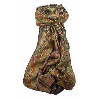 Mens Jamawar Premium Silk Scarf Pattern 4579 by Pashmina & Silk